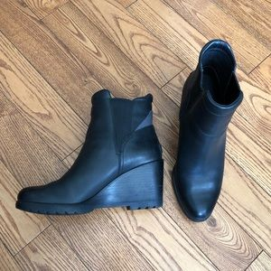 Sorel 'After Hours' leather wedge booties